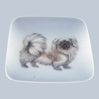 Vintage Royal Copenhagen Tray - Pekingese Dog