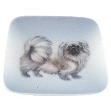 Vintage Royal Copenhagen Tray - Pekingese Dog