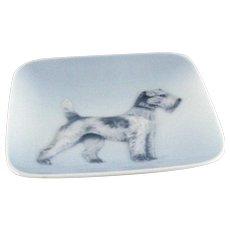 Vintage Royal Copenhagen Tray – Airedale Terrier Dog