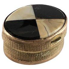Plaid Scottish Inlaid Agate Snuff Box – Victorian