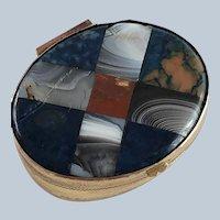 Plaid Scottish Inlaid Agate Carnelian Snuff Box – Victorian