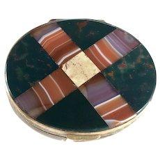 Plaid Scottish Inlaid Agate Bloodstone Snuff Box – Victorian