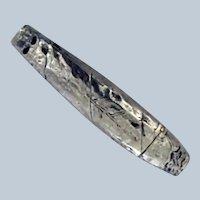Sterling Silver Figural Cigar Match Safe Vesta – c 1890