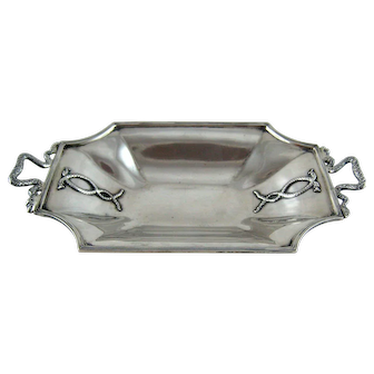Sterling Silver Snake Dish Lion Paw Feet – London 1910