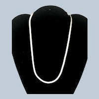 Vintage Sterling Silver Italy Herringbone Chain Necklace -