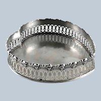 "Large 7"" Heart Sterling Silver Tray – Howard Co.  c 1900"