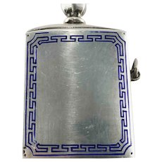 Sterling Silver Enamel Match Striker Lighter - Austria
