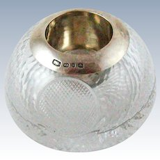 Crystal & English Sterling Silver Match Striker – Dated 1901