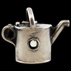 Victorian Silver Watering Can Stanhope - Scenes Liskeard, Cornwall