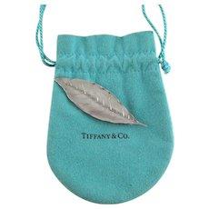 Vintage Tiffany & Co Sterling Silver Leaf Bookmark