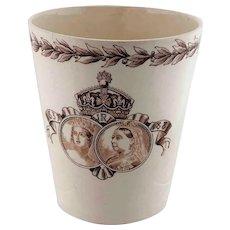 Queen Victoria Diamond Jubilee Commemorative Beaker Mug 1897 – Doulton Burslem