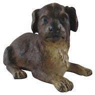 Antique Cold Painted Bronze Dog – Registry Marks