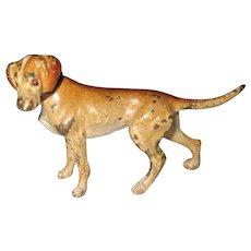 C 1910 Small Vienna Bronze Hound Dog
