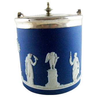 Wedgwood Jasperware Biscuit Barrel – Circa 1884