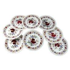 "Set of Eight Wedgewood CORNFLOWER Plates – 10 ½"""