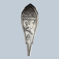 Celestial by Wood & Hughes Sterling Silver Large Serving Spoon