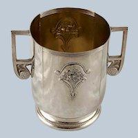 Art Nouveau WMF Two Handled Mug Jugendstil Electro Plated