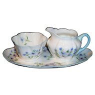 Shelley Demitasse Cream Sugar & Tray