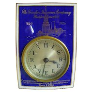 "Seth Thomas ""The Travelers Insurance Company"" Traveler Clock"