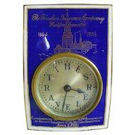 """Seth Thomas """"The Travelers Insurance Company"""" Traveler Clock"""