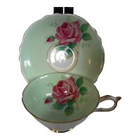 Paragon Cabbage Rose Cup & Saucer