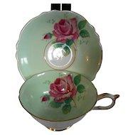 Paragon Cabbage Rose Cup & Saucer