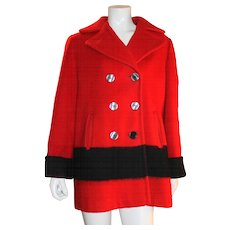 Ladies Red Hudson Bay Coat