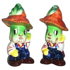 PY Japan Anthropomorphic Salt & Pepper Shakers