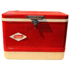 Vintage Coleman Cooler With Diamond Logo