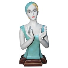 Large Counter Top Store Display Flapper Girl Mannequin
