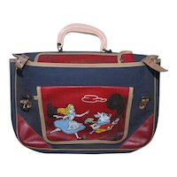 Vintage 1953 Walt Disney Alice In Wonderland WD30 School Bag