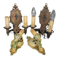 Vintage Spanish Revival Wall Sconces