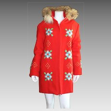 Vintage Ladies Hudson's Bay Winter Coat