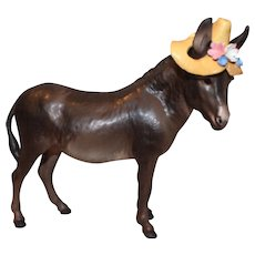 Hagen-Renaker DW Donkey With Hat Adelaide Figurine