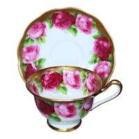 Royal Albert Old English Rose Cup & Saucer