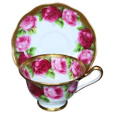 Royal Albert Old English Rose Cup & Saucer