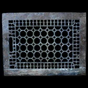 Vintage Cast Iron Floor Grate