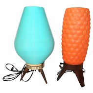 Mid Century Beehive Table Lamps