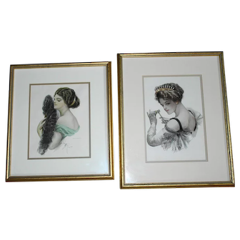 Harrison Fisher Victorian Beauty Prints