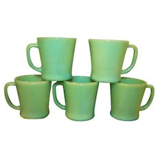 Fire King jadeite Coffee Mugs