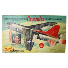 Vintage The Lindberg Line CRUSADER Chance Vought F8U Model
