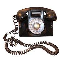 Northern Electric Bakelite Rotary Wall Telephone