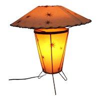 Atomic Tripod Fiberglass Table Lamp