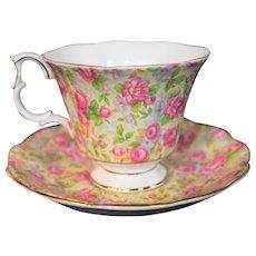 Royal Albert Pink Roses Cup & Saucer