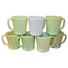 Fire King Jadeite Delphite Coffee Mugs
