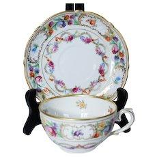 Schumann Empress Dresden Flowers Cups & Saucers