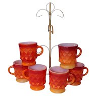 Fire King Coffee Mugs With Stand