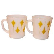 Anchor Hocking Fire King Kite Coffee Mugs
