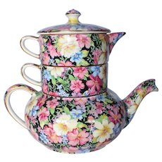 "Royal Winton Grimwades Chintz ""Florence"" Stacking Teapot"