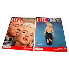 Marilyn Monroe Life Magazines